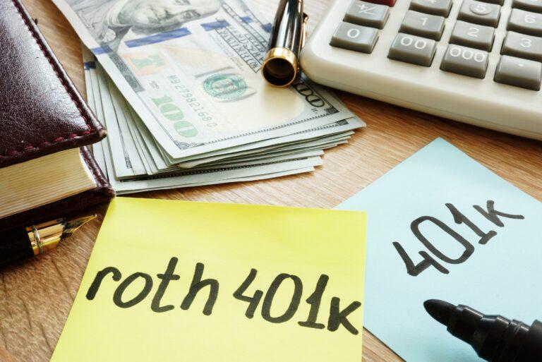 Roth 401k Postit Desk Cash