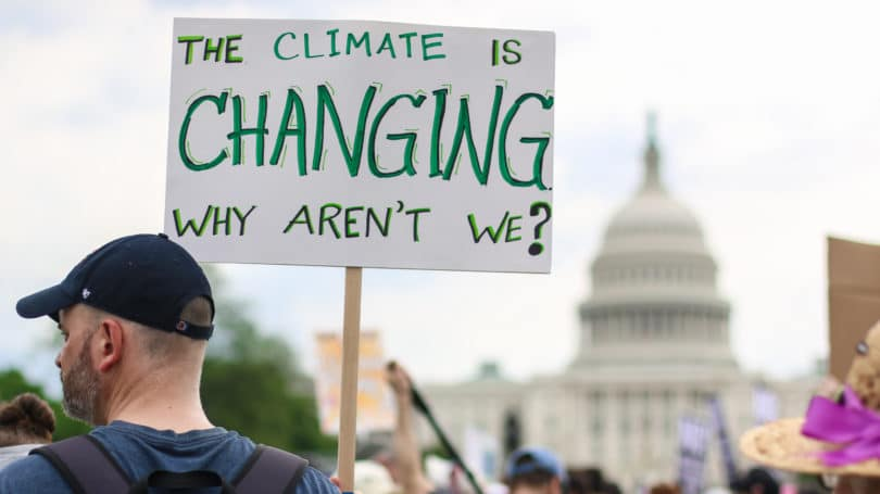 The Climate Is Changing Why Arent We White House Washington Dc Protest