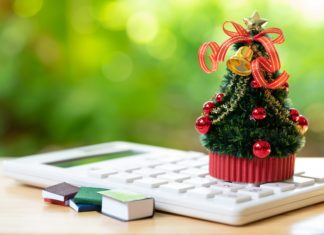 Christmas Tree Holiday Budget Planning Expenses