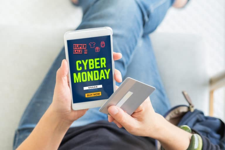 Cyber Monday App Cellphone Credit Card