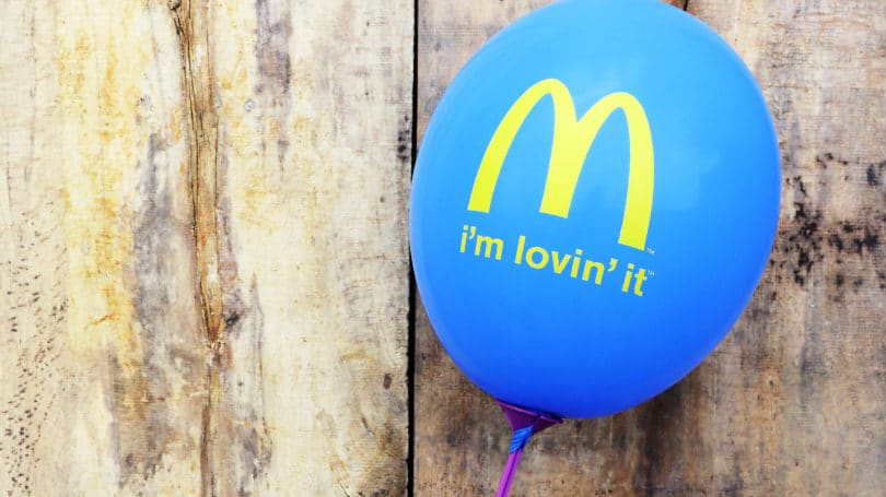 Mcdonalds Logo Motto On Inflatable Balloon