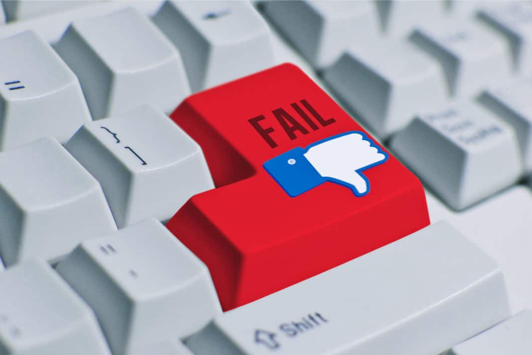 Social Media Fail Keyboard Dislike Thumbs Down