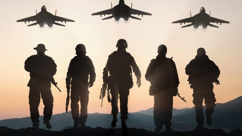 Us Air Force Soldiers Silhouette Jets