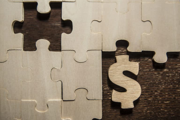 Wooden Money Puzzle Dollar Sign