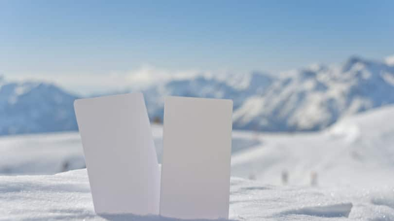 Blank Ski Pass Tickets Blank Winter Sports Mountains