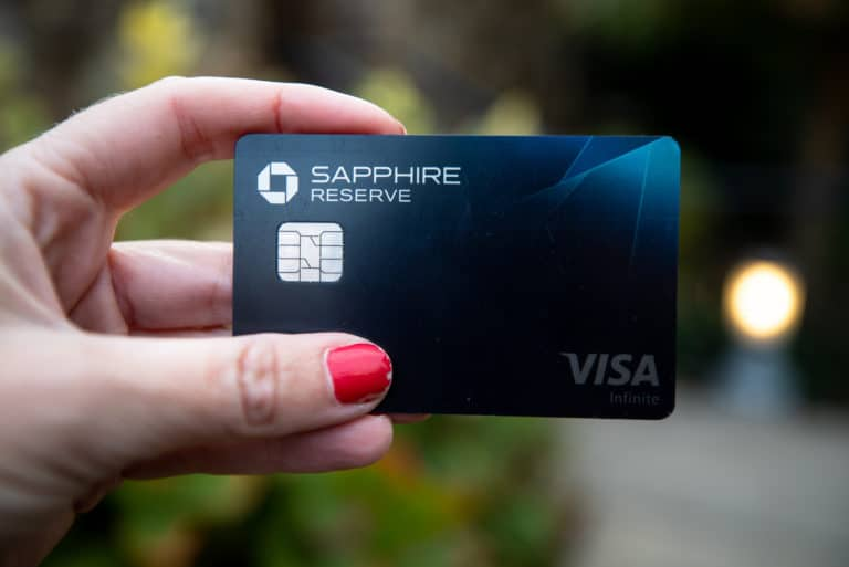 Chase Sapphire Reserve Credit Card Hand