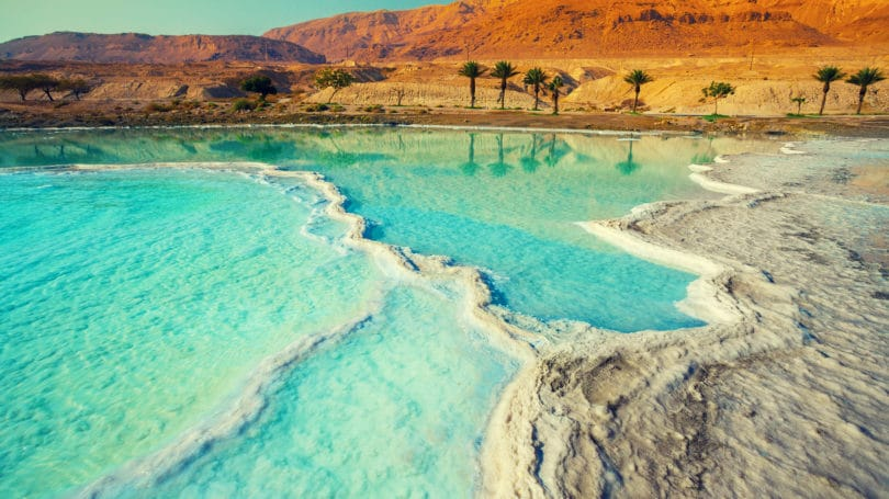 Dead Sea Salty Water Israel Jordan