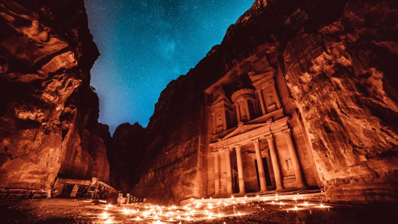 Petra Jordan Candles Night