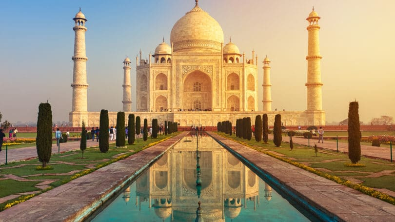Taj Mahal Ivory India Sunrise