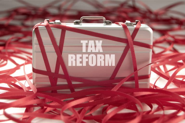 Tax Reform Suitcase Red Tape