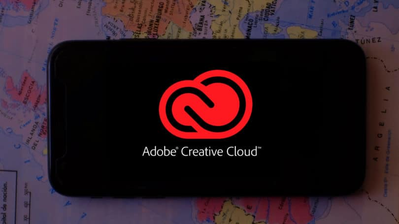 Adobe Creative Cloud App Phone Logo World Map