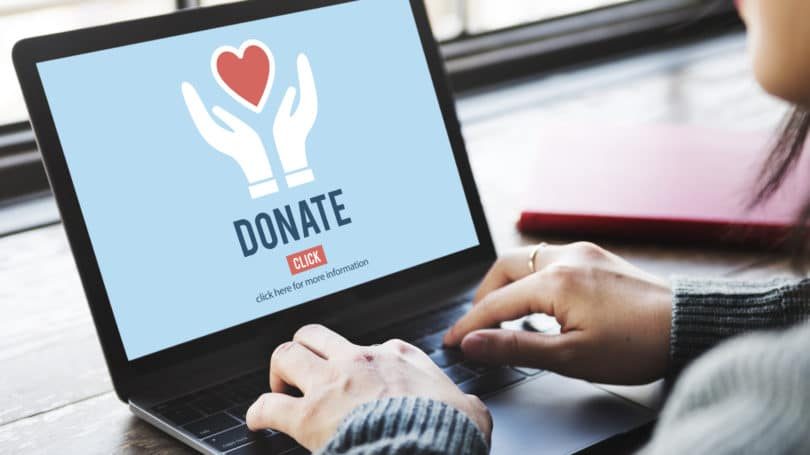 Donate To Charity Give Money Laptop Organization