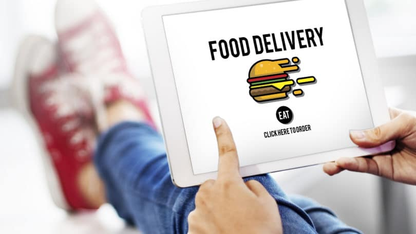 Food Delivery Service App Tablet Order Online