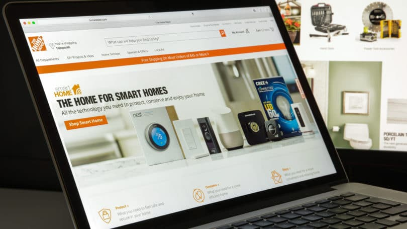 Home Depot Website Computer Laptop Search Browse Purchase