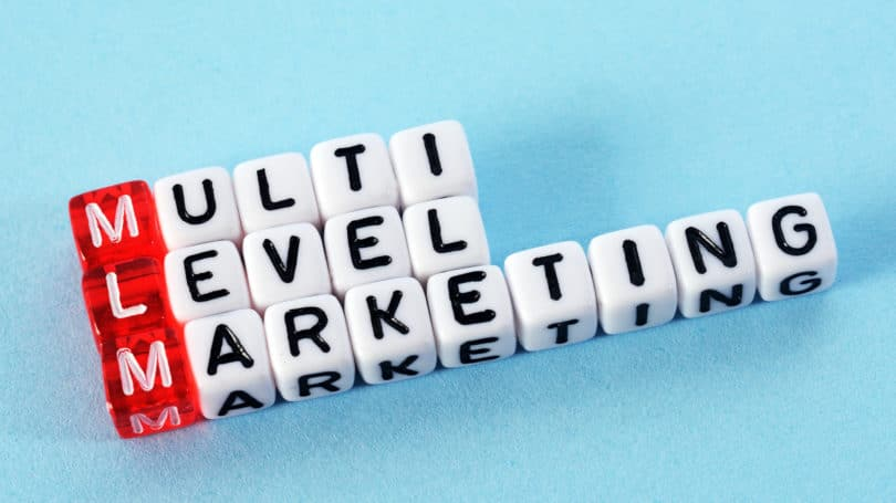 Multi Level Marketing Dice Letter Blocks
