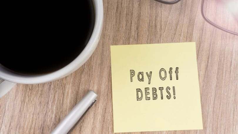 Pay Off Debts Post It Coffee