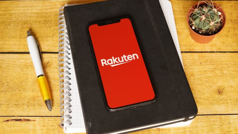 Rakuten Cellphone App Logo Desk Notebooks