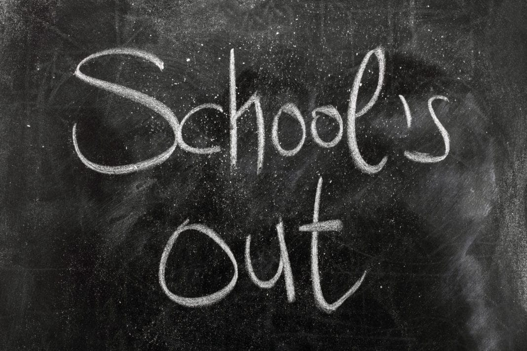 Schools Out Chalkboard Chalk