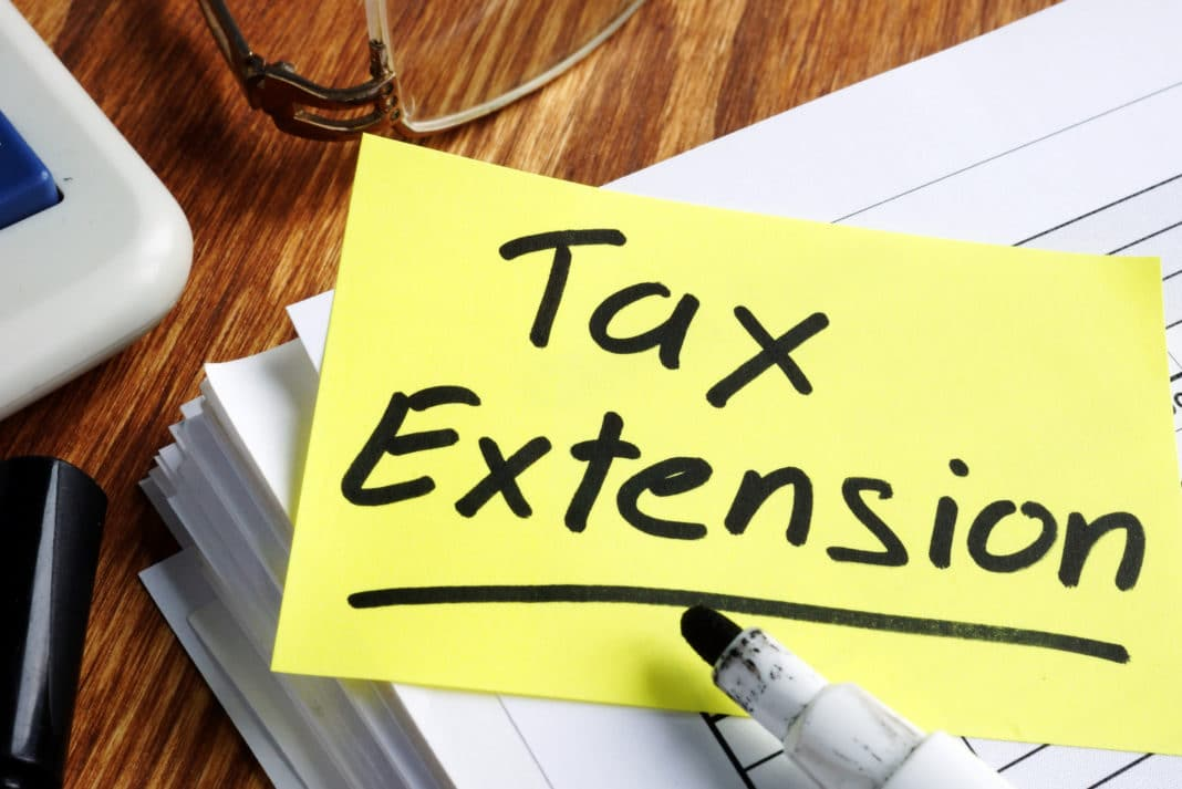 Tax Extension Marker Post It Note