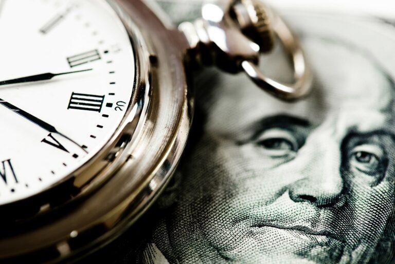 Time Is Money Concept Cash Clock