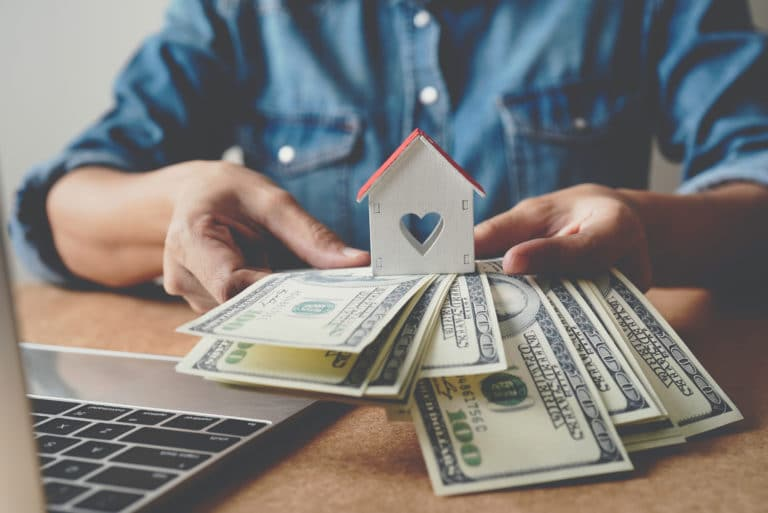Cash House Refinance Equity Down Payment Laptop Mortgage