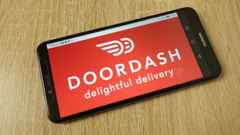 Doordash Delightful Delivery Phone Logo