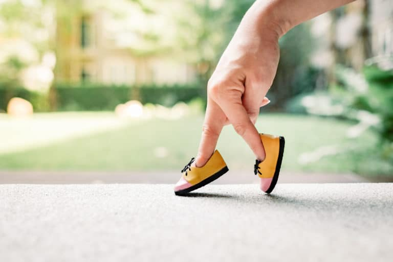 Fingers Walking Shoe Concept Going For A Stroll