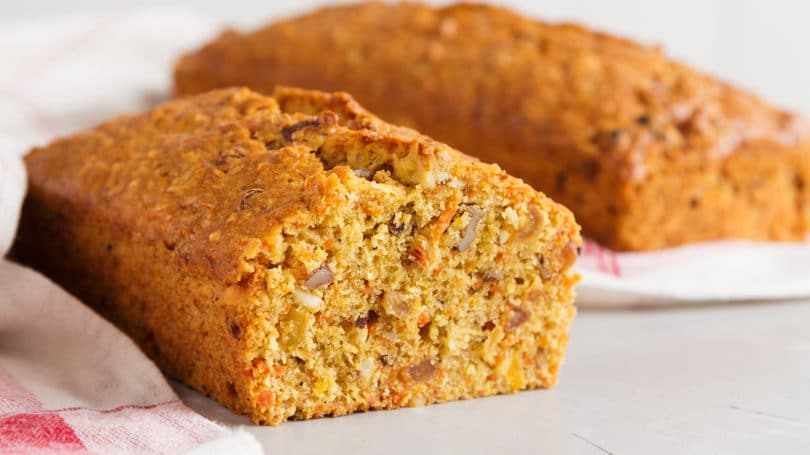 Fresh Baked Loaf Of Carrot Bread Cake