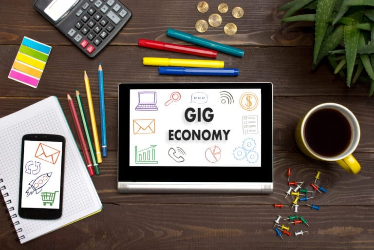 Gig Economy Tablet Home Office Supplies