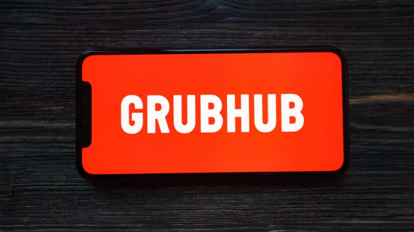 Grubhub Cellphone App Logo Delivery