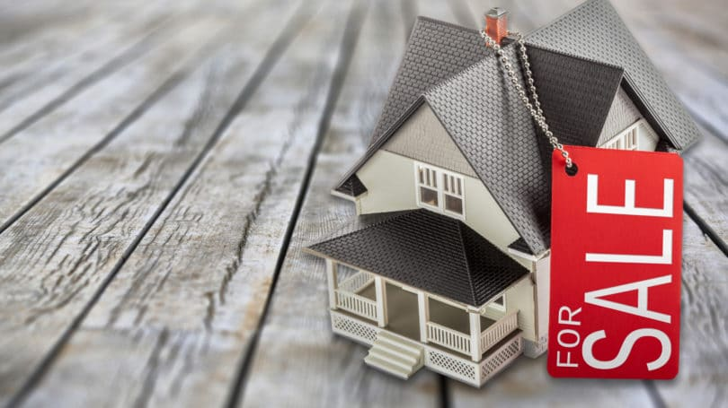 House For Sale Mini Model Of Home Key Chain