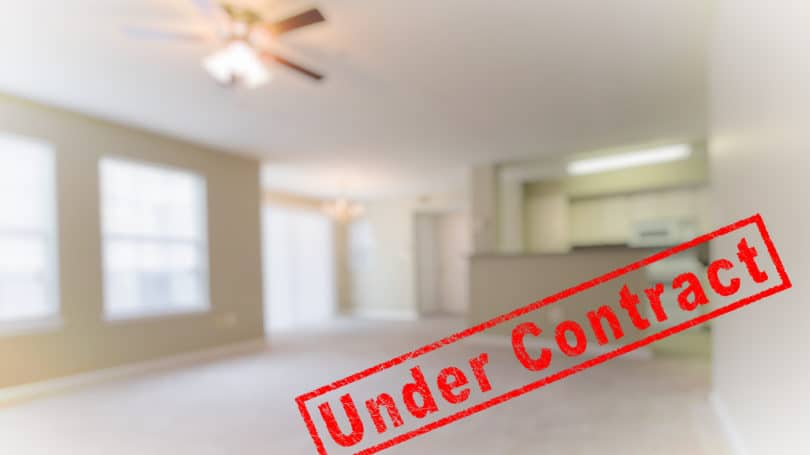 House Under Contract Ceiling Fan Living Room