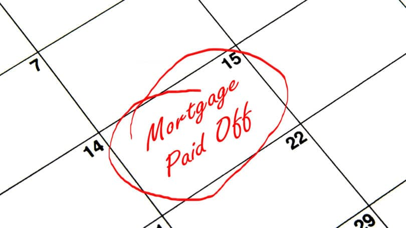 Mortgage Paid Off Calender