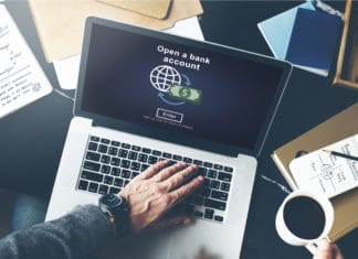 Open A Bank Account Online Laptop Small Business