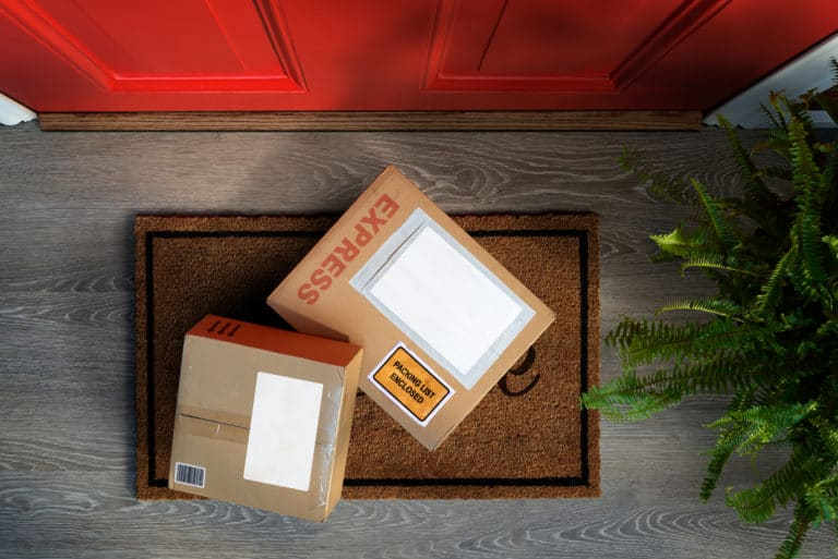 Package Delivery Front Door Of House