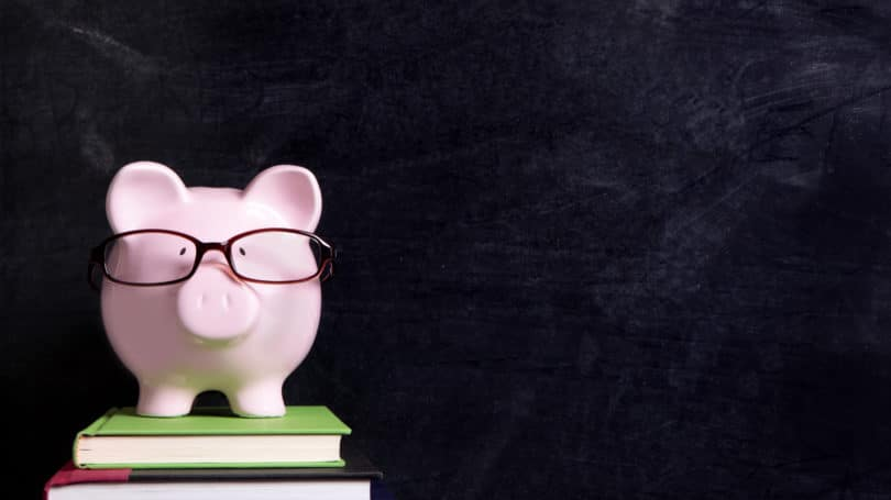Piggy Bank Textbook Chalkboard Education Fund Savings