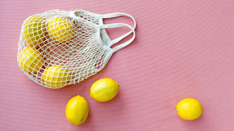 Reusable Mesh Bag For Produce Lemons