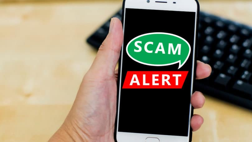 Scam Alert Smart Phone Keyboard