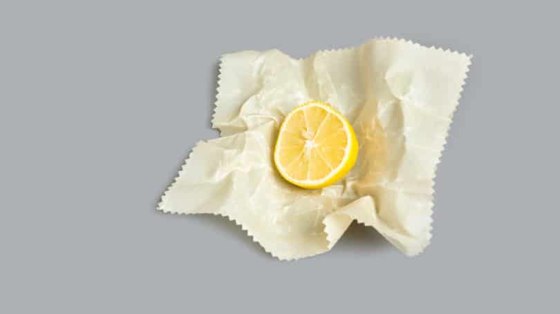 Sliced Lemon On Bees Wax Reusable Eco Friendly Wrap