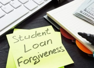 Student Loan Forgiveness Post It Marker