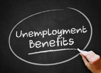 Unemployment Benefits Chalkboard Chalk
