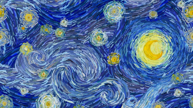 Van Gogh Painting A Starry Night