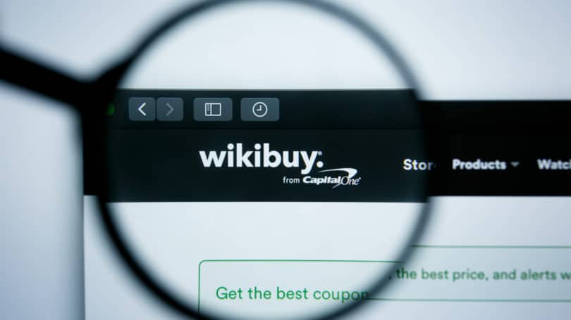 Wikibuy Capital One Website Magnifying Glass
