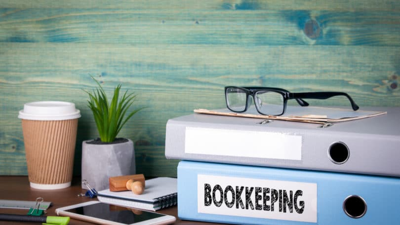 Bookkeeping Binders Table Paperclip Desk