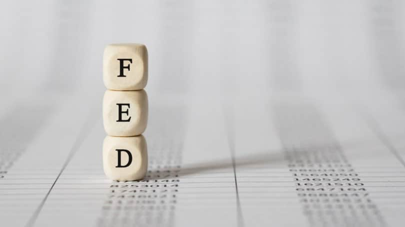 Federal Reserve Fed Wooden Blocks Letters