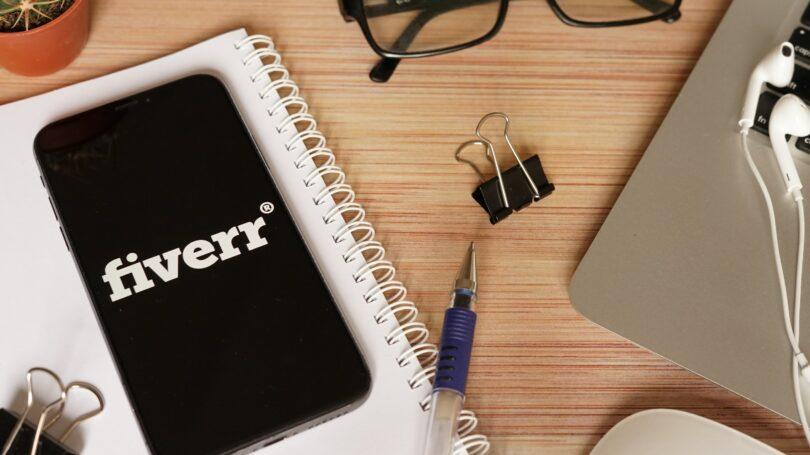Fiverr Phone App Laptop Glasses Desk