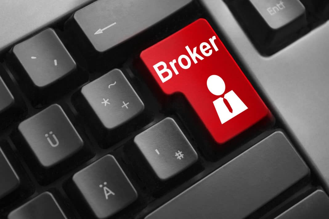Keyboard Red Button Computer Stock Broker Online