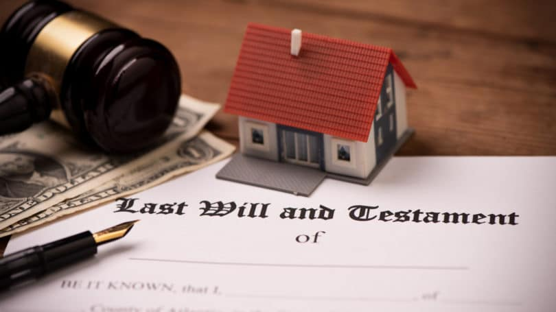 Last Will And Testament Gavel House Cash Distribute Estate