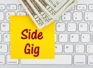 Side Gig Keyboard Post It Cash