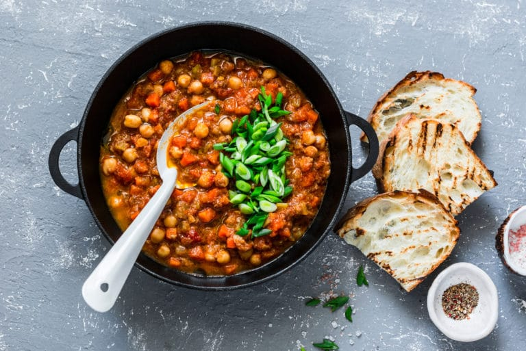 Slow Cooker Chili Bread Stew